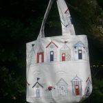 Beach Huts large tote bag | magathabagatha.co.uk