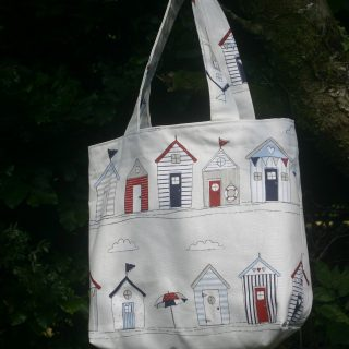 Beach Huts large tote bag | magathabagatha.co.uk