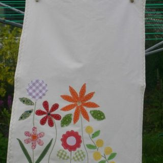 Flower organic tea towel