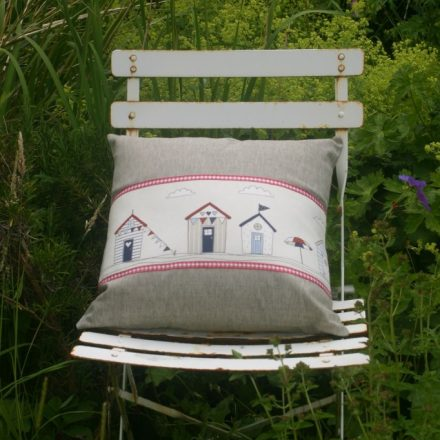 Beach huts cushion 2