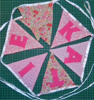 Wonderful bespoke bunting