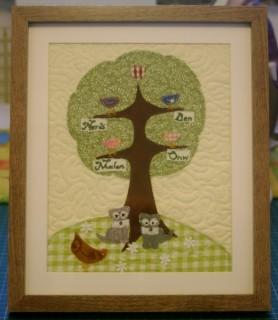 Magatha Bagatha family tree mini quilt