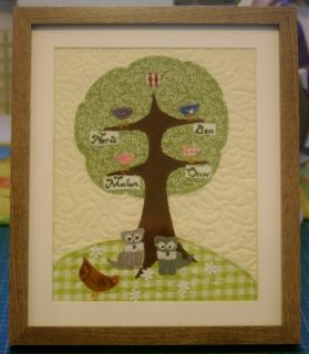 Magatha Bagatha family tree mini quilt