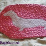 Pink dachshund hot water bottle cover