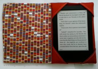 Inside my Doctor Who Kindle Cover - scarf fabric!