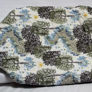 Bluebell wood hot water bottle cover front