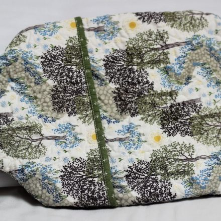 Bluebell wood hot water bottle cover back