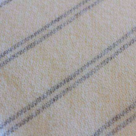 Cream with grey stripe