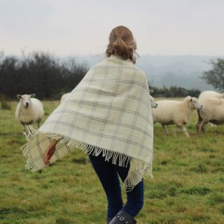 Small wool throw