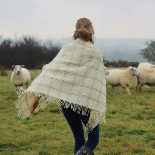 Small wool throw