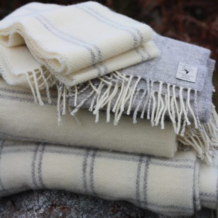 Wool throws and scarves